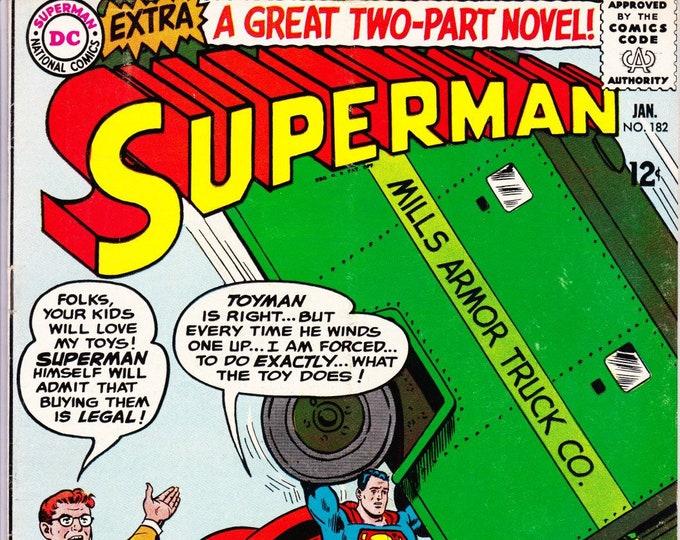 Superman #182 (1st Series 1939) December 1965    DC Comics    Grade Fine