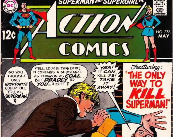Action Comics #376 (1st Series 1938) May 1969  DC Comics  Grade Fine
