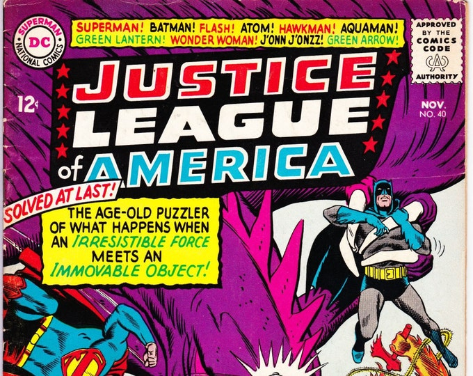 Justice League of America #40   November 1965   DC Comics   Grade Fine+   3rd Silver Age Penguin!