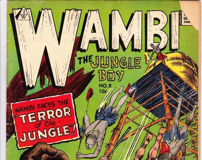 Wambi, Jungle Boy #8 (1964 I.W. Reprint)  I.W. Enterprises Grade G