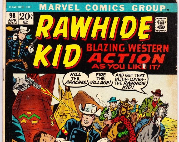 Rawhide Kid #98 (1st Series 1955) April 1972   Marvel Comics  Grade Fine