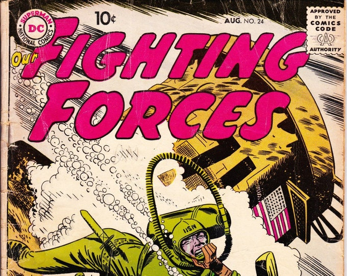 Our Fighting Forces #24  August 1957   DC Comics   Grade G/VG