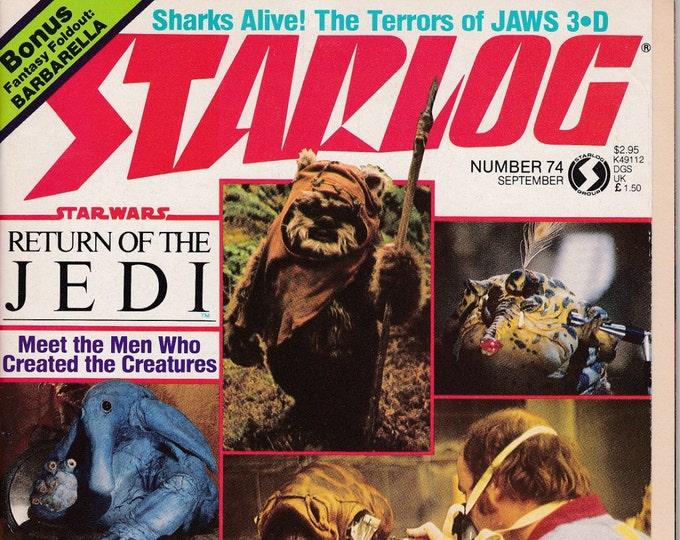 Starlog #74 - September 1983 Issue - Return of the Jedi - Grade NM