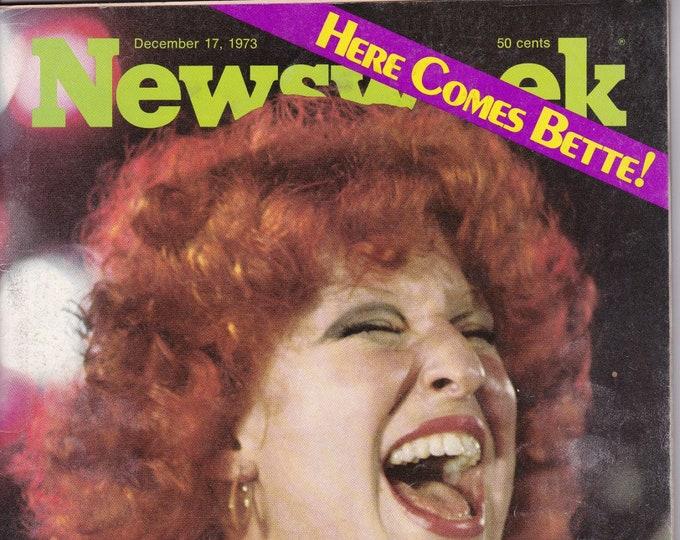 "Vintage Newsweek Magazine Dec. 17, 1973 'Here Comes Bette!"""