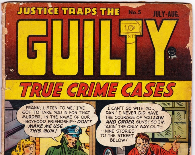 Justice Traps the Guilty #5 (1st Series 1947) August 1948  Prize/Headline  Grade FR/G