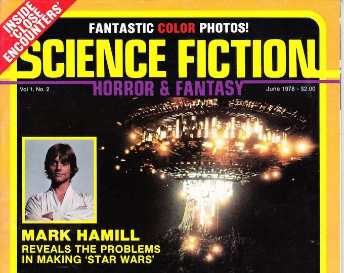 Science Fiction Horror & Fantasy Magazine #2 June 1978 Close Encounters Star Wars Mark Hamill Leonard Nimoy Interviews Grade NM