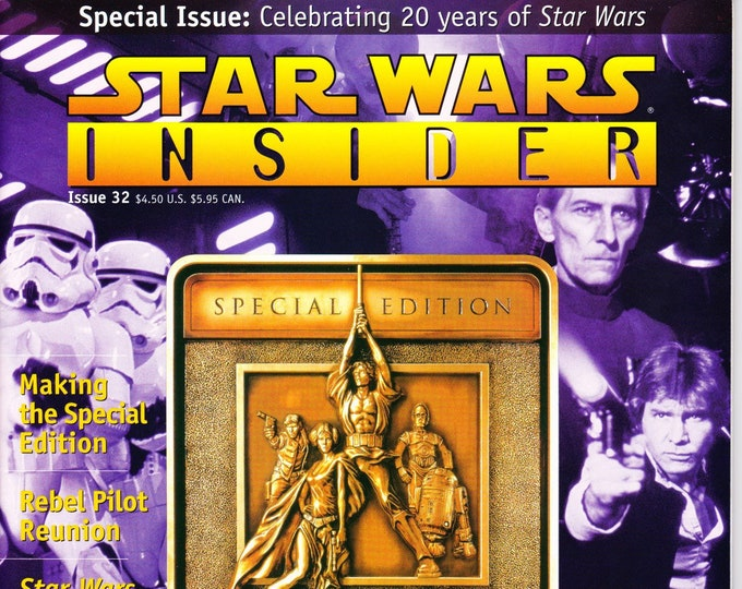 Star Wars Insider Magazine #32 Special Issue Celebrating 20 Years Of Star Wars The Fan Club Inc Grade NM