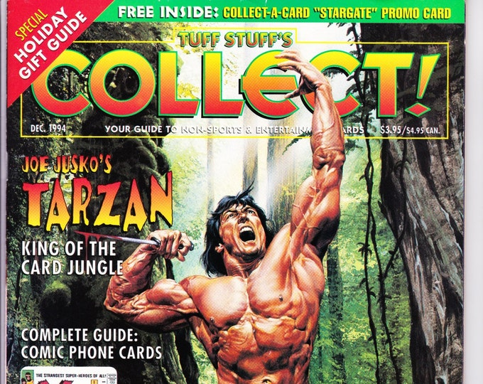 Collect! Collector Card Magazine and Price Guide December 1994 Issue Complete Guide to Tarzan Cards! Tuff Stuff Grade NM