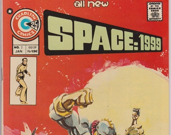 Space 1999 #2 (1st Series 1975) March 1976    Charlton Comics   Grade NM