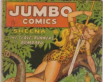 Jumbo Comics #156 (1st Series 1938) February 1952  Fiction House  Grade G