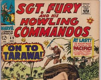 Sgt. Fury #49  (1st Series 1963) December 1967    Marvel Comics   Grade VG