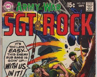 Our Army At War #210 (1st Series 1952) September 1969   DC Comics  Grade VG+