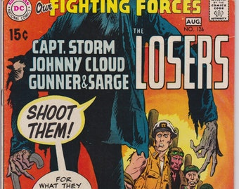 Our Fighting Forces #126 (1st Series 1959) August 1970    DC Comics  Grade Fine