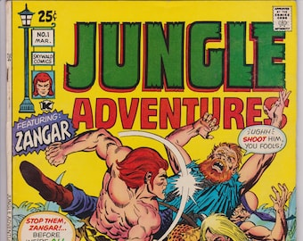 Jungle Adventures #1 (1st Series 1971) March 1971    Skywald Publishing    Grade Fine