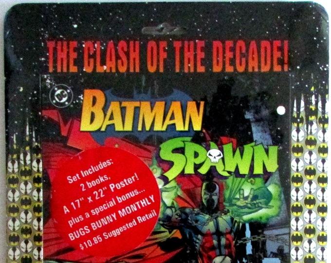 Batman Spawn Clash of the Decades Two Pack Set  Batman/Spawn War Devil & Spawn/Batman  1994     DC Comics    Grade MIP