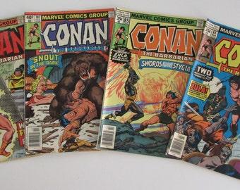 Conan The Barbarian #84, 85, 107, 111 Grade G to VG 4 for 5 Dollars