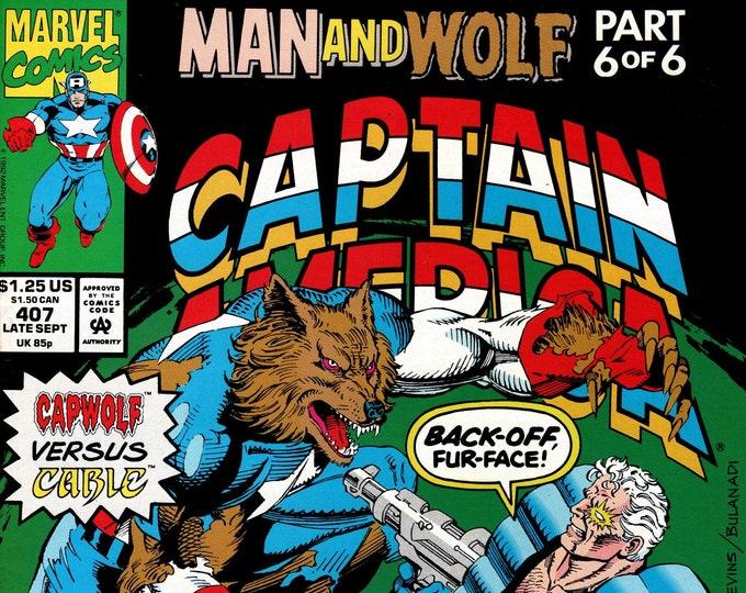 Captain America #407 (1st Series 1968) September 1992 Marvel Comics  Grade NM