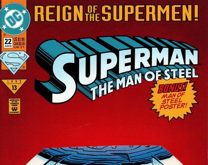 Superman The Man of Steel #22  June 1993   DC Comics  Grade VF