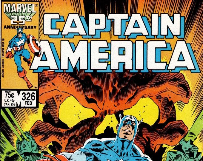 Captain America #326 (1968 1st Series) February 1987    Marvel Comics  Grade NM