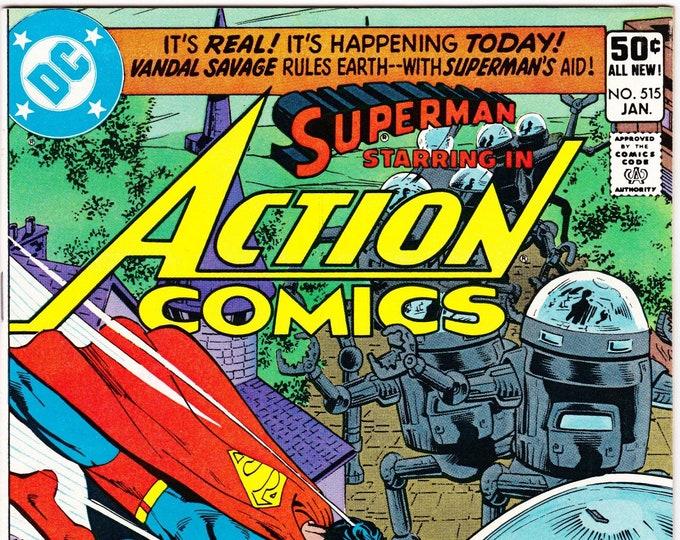 Action Comics #515 (1st Series 1939) January 1981      DC Comics    Grade NM