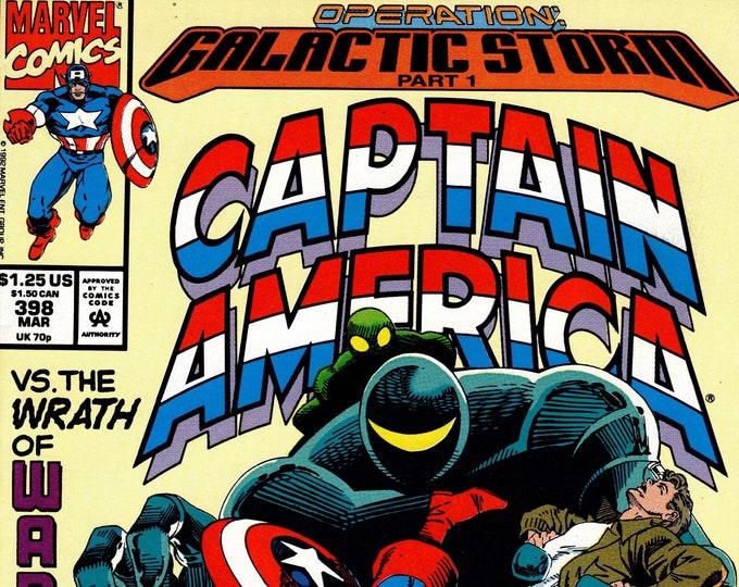 Captain America #398 (1st Series 1968) March 1992 Marvel Comics  Grade VF