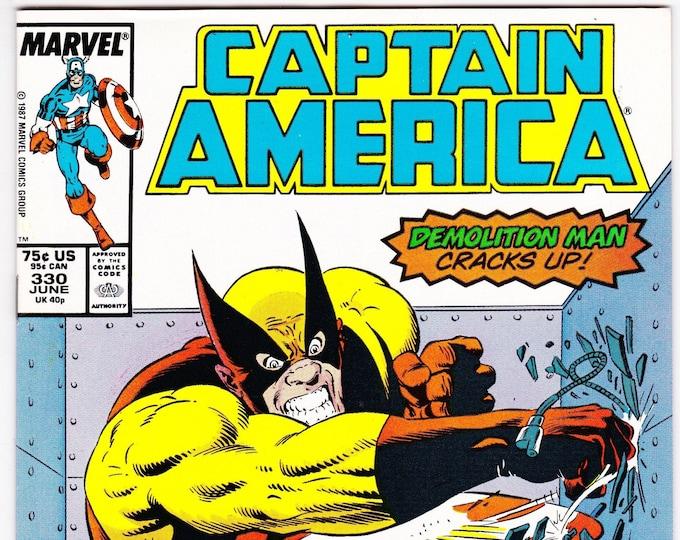 Captain America #330 (1st Series 1968) June 1987   Marvel Comics    Grade NM