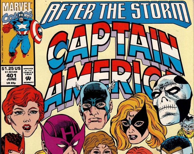 Captain America #401 (1968 1st Series) June 1992 Issue Marvel Comics Grade VF