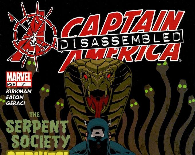 Captain America #31 (4th Series) November Issue  Marvel Comics  Grade VG
