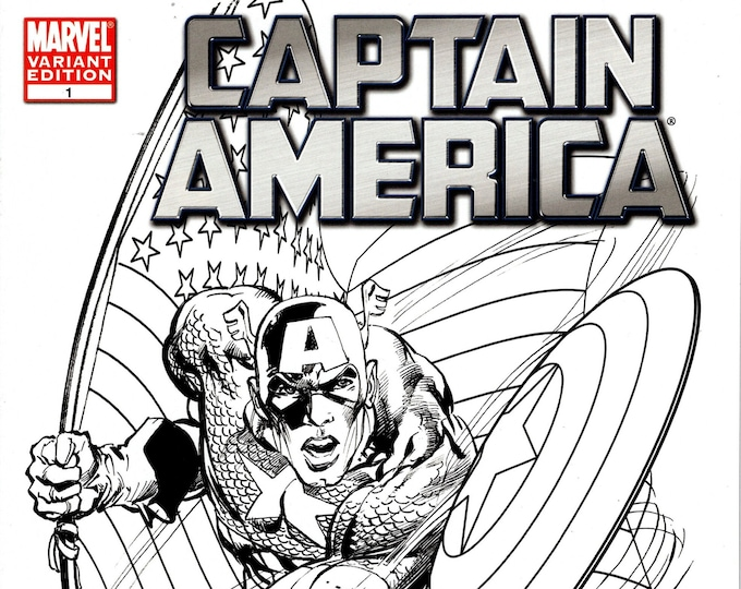 Captain America #1 (Diamond Select Toys Variant Cover by Neal Adams) September Issue Marvel Comics  Grade NM
