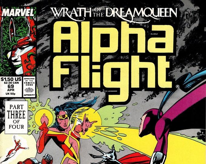 Alpha Flight #69 (1st Series 1983) April 1989   Marvel Comics  Grade VF/NM