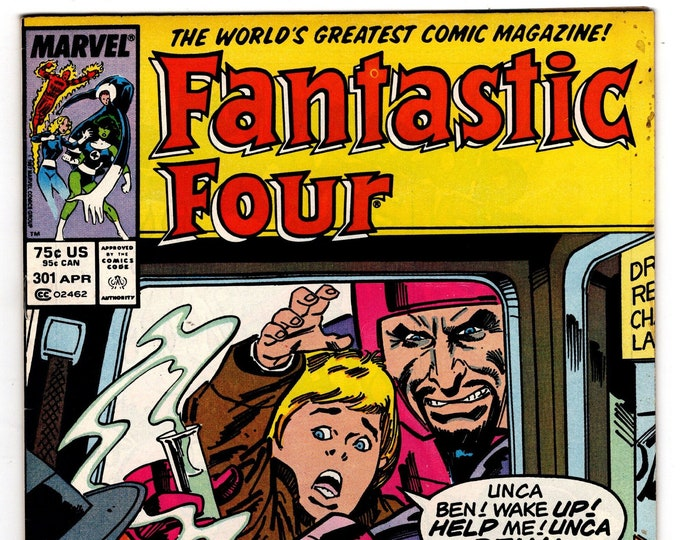 Fantastic Four #301 (1st Series 1961) April 1987  Marvel Comics  Grade Fine