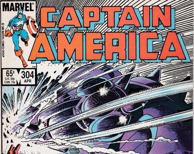 Captain America #304 (1968 1st Series) April 1985   Marvel Comics    Grade NM