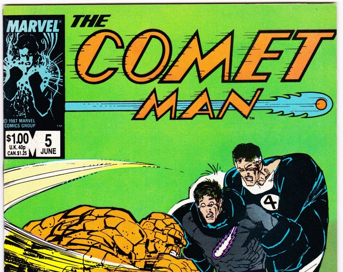 Comet Man #5 (1987) June 1987    Marvel Comics   Grade NM