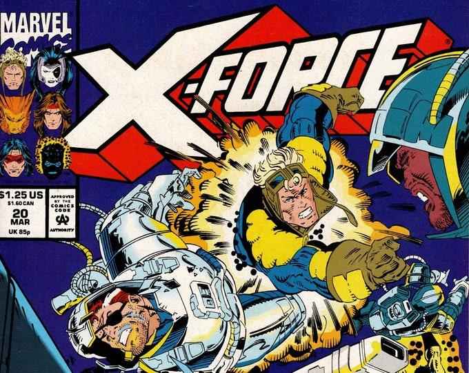 X-Force #20 (1991 1st Series)  March 1993  Marvel Comics  Grade VF