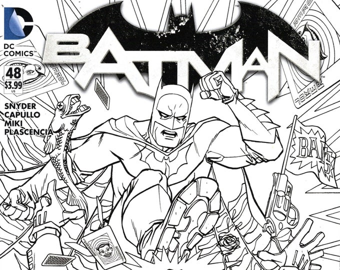 Batman #48 Adult Coloring Book Variant Edition March Issue DC Comics Grade NM