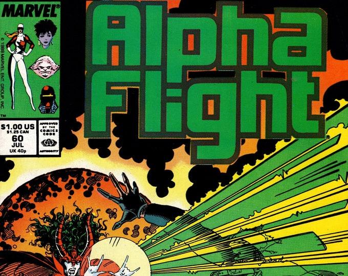Alpha Flight #60 (1st Series 1983) July 1988  Marvel Comics  Grade VF