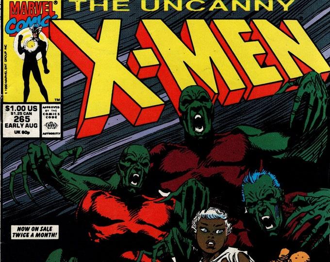 Uncanny X-Men #265   August 1990    Marvel Comics Grade F/VF