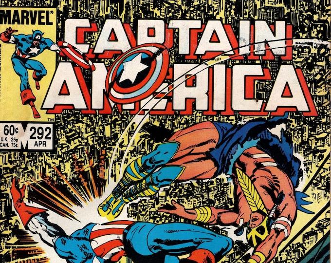 Captain America #292 (1968 1st Series) April 1984   Marvel Comics    Grade VG