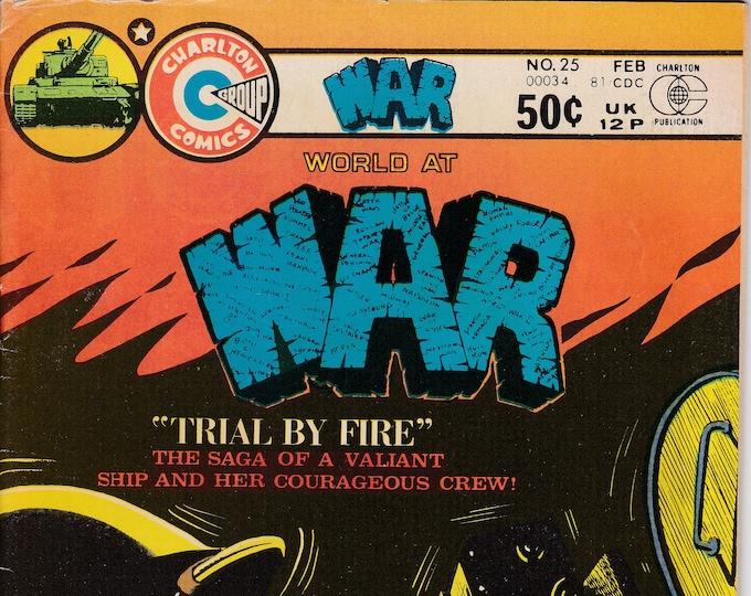 War #25 (1975 Charlton) February 1981  Charlton Comics Grade VF
