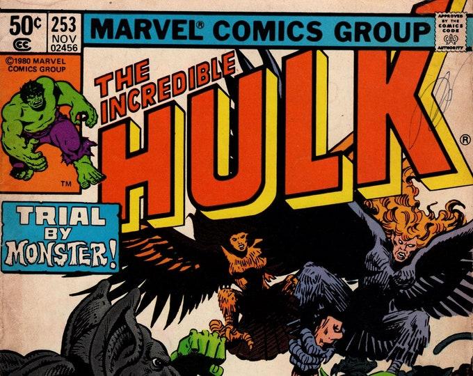 Incredible Hulk #253 (1st Series 1962-1999) November 1980    Marvel Comics  Grade G