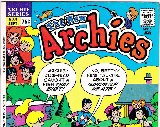 New Archies #8    September 1988     Archie Publications    Grade NM