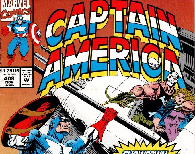 Captain America #409 (1st Series 1968) November 1992 Marvel Comics  Grade VF