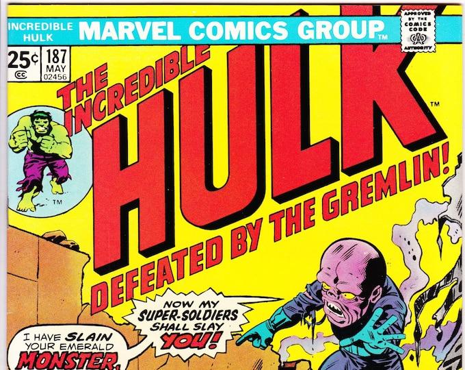The Incredible Hulk #187 (1st Series 1962-1999) May 1975  Marvel Comics  Grade NM