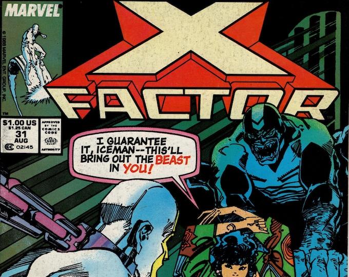 X-Factor #31 (1st Series 1986) August 1988  Marvel Comics   Grade Fine