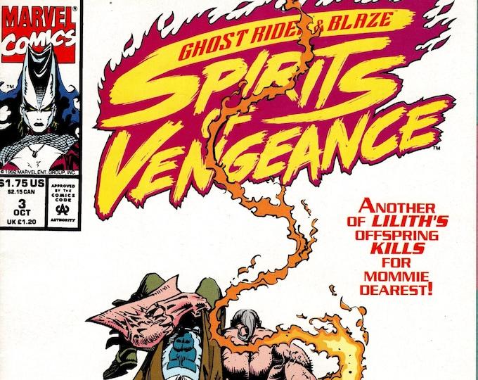Ghost Rider Blaze Spirits of Vengeance #3  October 1992   Marvel Comics     Grade NM
