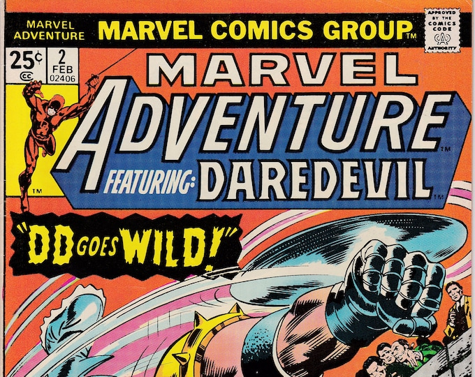 Marvel Adventure featuring Daredevil #2 (1975 Series)  February 1976 Marvel Comics Grade NM