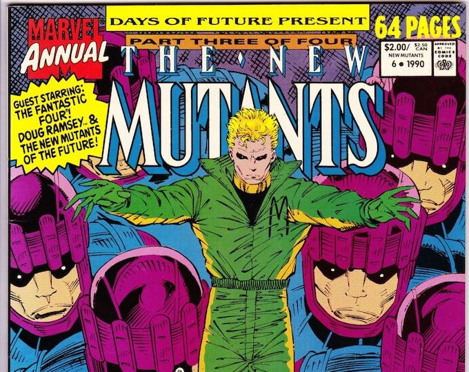 New Mutants Annual #6  (1st Series 1983) 1990     Marvel Comics    Grade NM