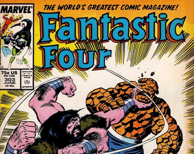Fantastic Four #303  June 1987  Marvel Comics  Grade F/VF
