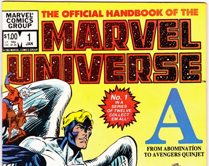 Official Handbook of the Marvel Universe #1    January 1983      Marvel Comics       Grade NM