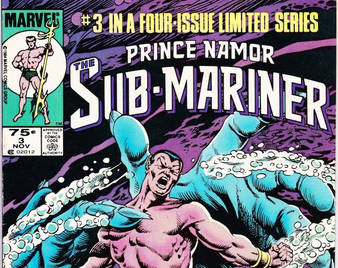 Prince Namor the Sub-Mariner #3 (1984 Marvel) November 1984   Marvel Comics  Grade NM